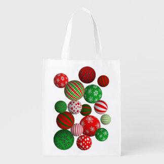 3Dクリスマスの球 エコバッグ