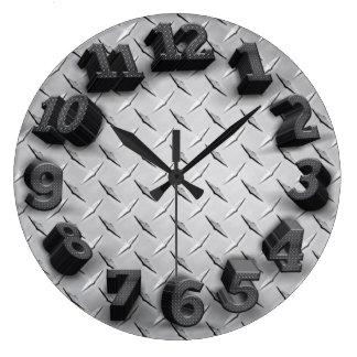 3Dダイヤモンドのプレートの円形の柱時計 ラージ壁時計