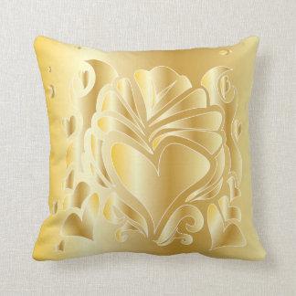 3Dデラックスな金ゴールドのロマンチックなお祝いのギフトの枕 クッション