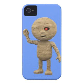 3dハロウィンのミイラはこんにちは言います! (編集可能) Case-Mate iPhone 4 ケース