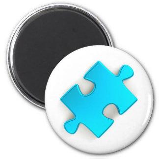 3Dパズルの部分(金属淡いブルー) マグネット