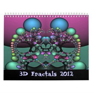 3Dフラクタル2012年 カレンダー