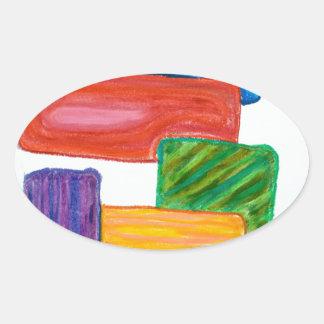 3Dブロック 楕円形シール