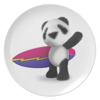 3dベビーのパンダのサーフボード プレート