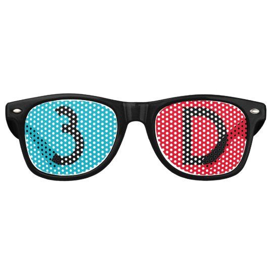 3Dメガネ風 レトロサングラス