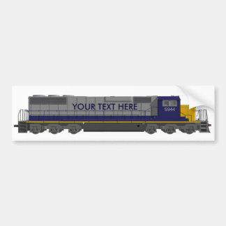 3Dモデル: 列車エンジン: 鉄道: バンパーステッカー