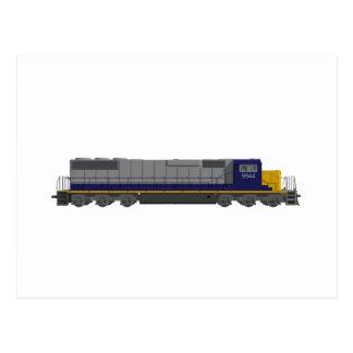 3Dモデル: 列車エンジン: 鉄道: ポストカード