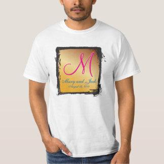3dモノグラムのレモン色 tシャツ