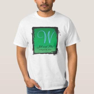 3dモノグラムの深緑色 tシャツ