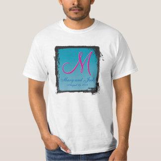 3dモノグラムの青海原 tシャツ