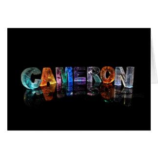 3Dライトのカメロンのための挨拶状 カード