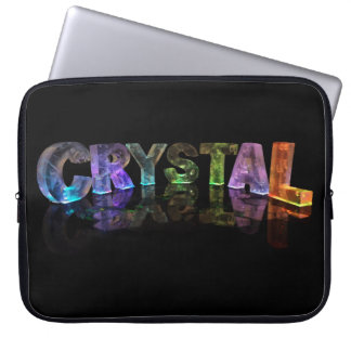3Dライトの一流の水晶 ラップトップスリーブ