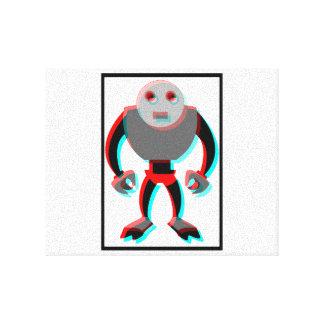 3Dロボット キャンバスプリント