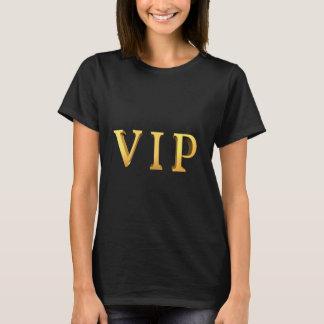 3D一見のスローガンを用いるVIPの金ゴールドの手紙 Tシャツ
