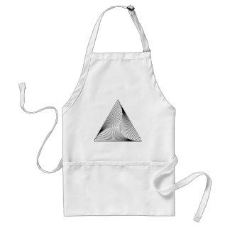 3d三角形の目の錯覚 スタンダードエプロン