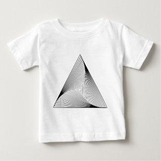 3d三角形の目の錯覚 ベビーTシャツ