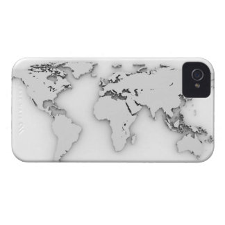 3D世界地図、コンピューター生成イメージ Case-Mate iPhone 4 ケース