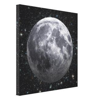 3D効果-星間の月 キャンバスプリント
