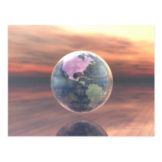3D地球5 ポストカード