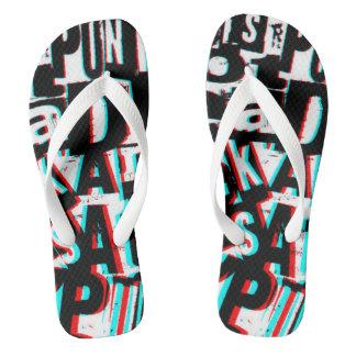 3D手紙のパンクロックのスタイルのユニセックスなビーチサンダル ビーチサンダル
