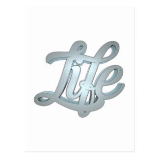 3d書道-生命 ポストカード