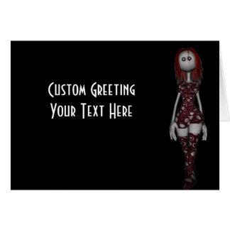 3D気紛れなBongaの人形-赤毛 カード