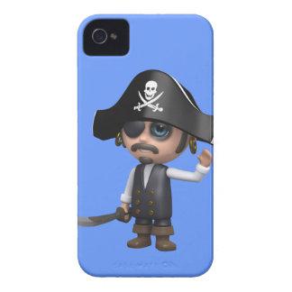 3d海賊波こんにちは! (編集可能) Case-Mate iPhone 4 ケース