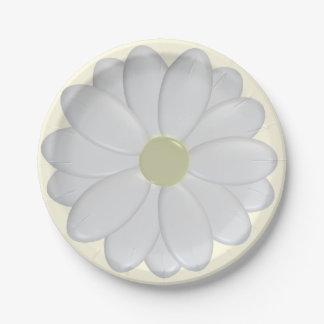 3D白いデイジーのプレート ペーパープレート