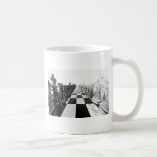 3D白黒チェス盤 コーヒーマグカップ