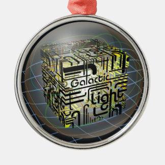 3D立方体の銀河ライト メタルオーナメント