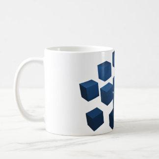 3D立方体はマグを設計しました コーヒーマグカップ