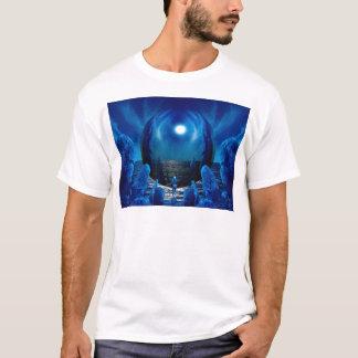 3d芸術の青い驚異 tシャツ