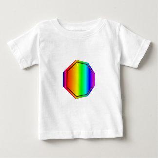 3D虹の八角形 ベビーTシャツ