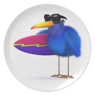 3d青い鳥のサーフボード プレート