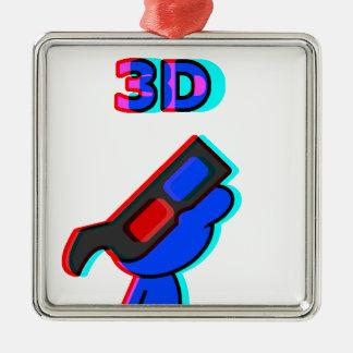 3D青 メタルオーナメント