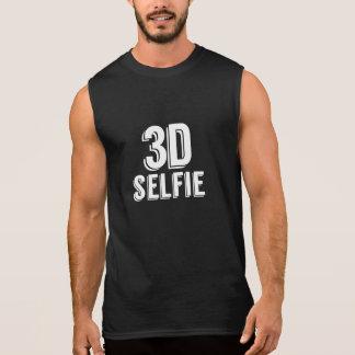 3D Selfie -白い基盤 袖なしシャツ