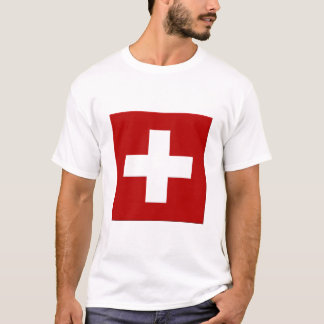 3D Tシャツのスイス連邦共和国の旗 Tシャツ