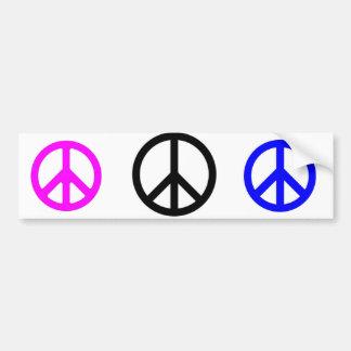 3peaceシンボルや象徴 バンパーステッカー