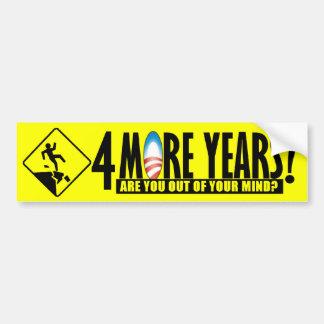4つのより多くの年か。 -反バラック・オバマ バンパーステッカー
