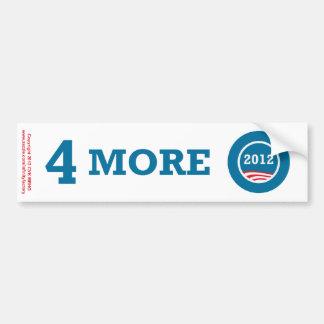 4つのより多くの年オバマ2012年 バンパーステッカー