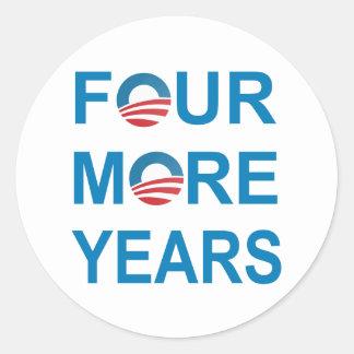 4つのより多くの年-バラック・オバマ2012年 ラウンドシール
