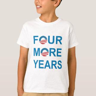 4つのより多くの年-バラック・オバマ2012年 Tシャツ