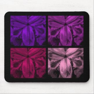 4つのアイリス: 開花6の宝石のマウスパッドのクォードのパネル マウスパッド
