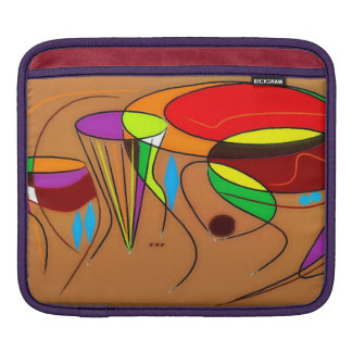 4つのアフリカのドラムiPadの袖 iPadスリーブ