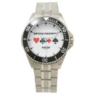 4つのカードのスーツのユーモアの中の橋不眠症患者 腕時計