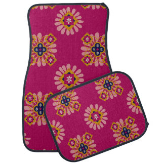 4つのカーマットの装飾的な赤紫のモトッコ人セット カーマット