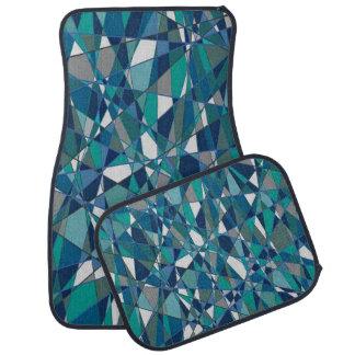 4つのカーマットの青い宝石のスタイルの装飾的なセット カーマット