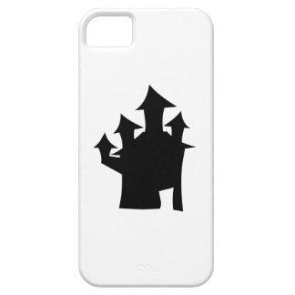 4つのタワーが付いているお化け屋敷。 白黒。 iPhone SE/5/5s ケース