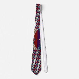 4つのダイヤモンドのピラミッドの花びら-すばらしい芸術 ネクタイ