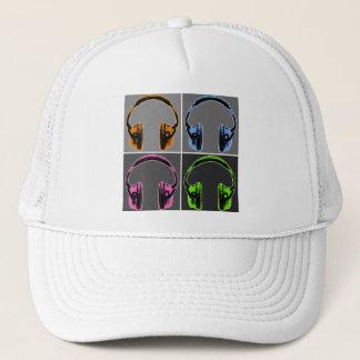 4つのポップアートのヘッドホーン キャップ
